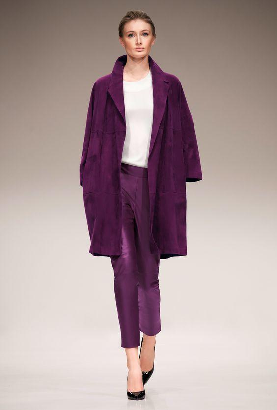 Пальто насыщенного фиолетового цвета