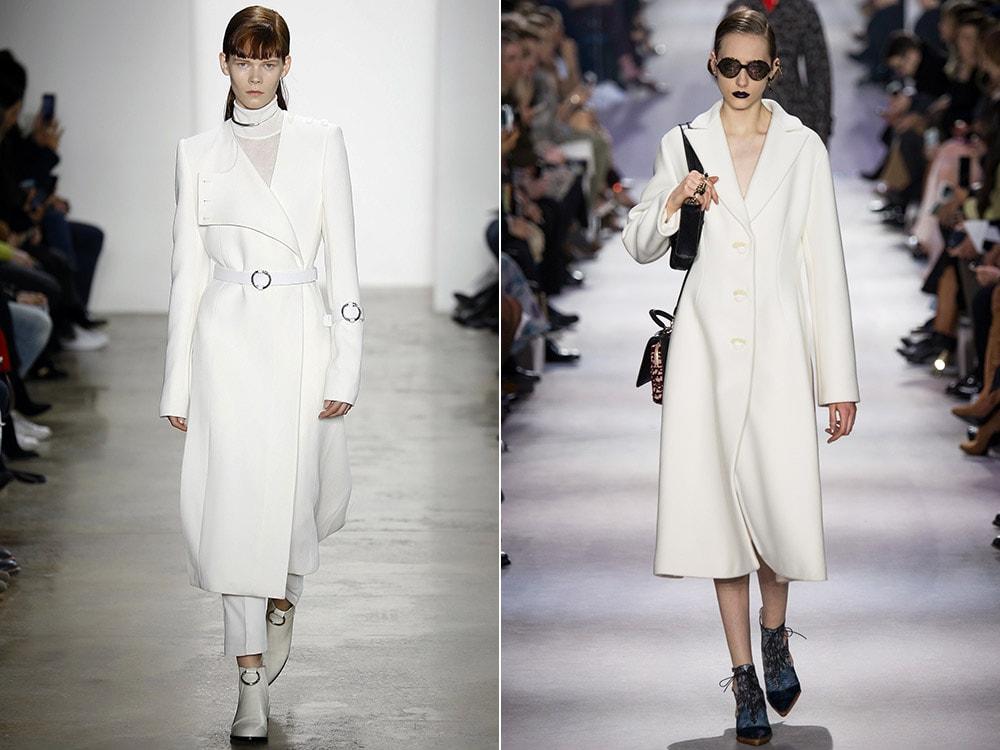 Изысканное белое пальто