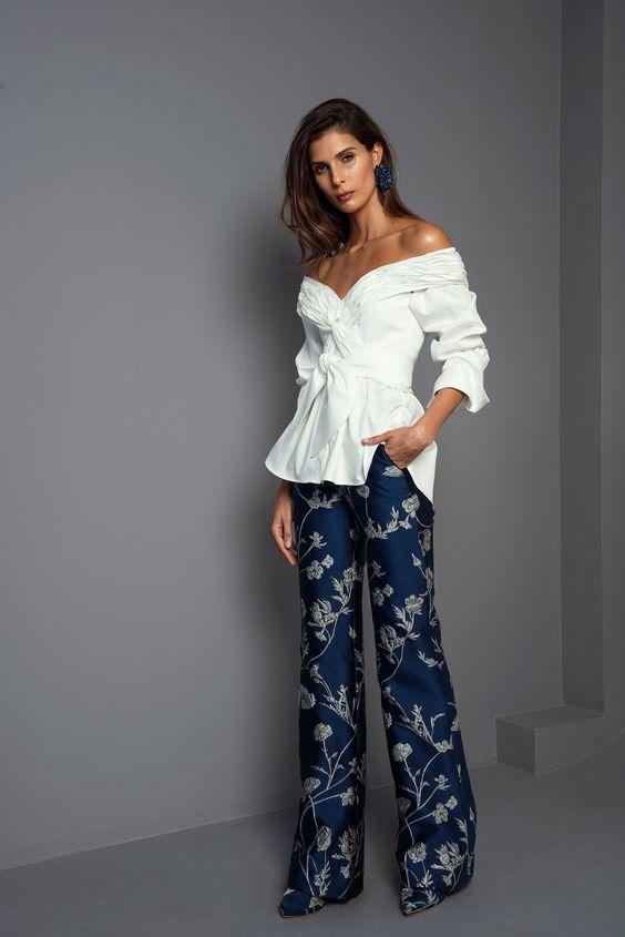 брюки с флористическим принтом