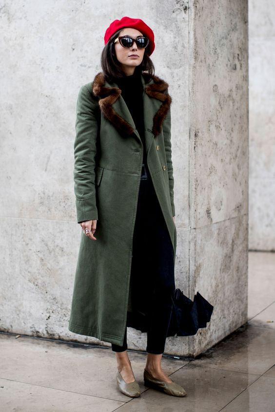 Модное стильное пальто