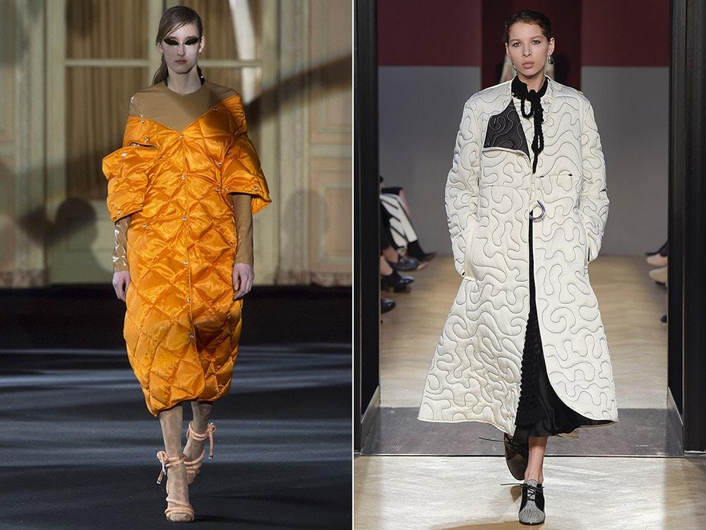 Стильные стеганые пальто
