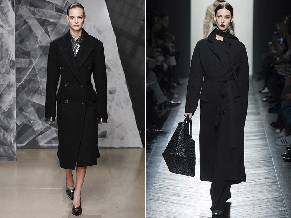 Стильное классическое черное пальто
