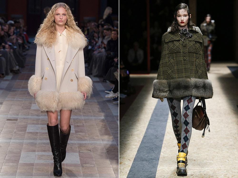Укороченные пальто с мехом