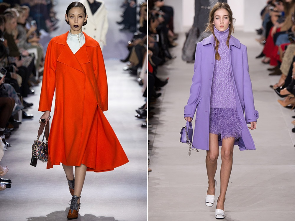 Модная расцветка пальто
