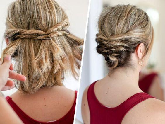 Прическа на короткие волосы своими руками фото фото 522