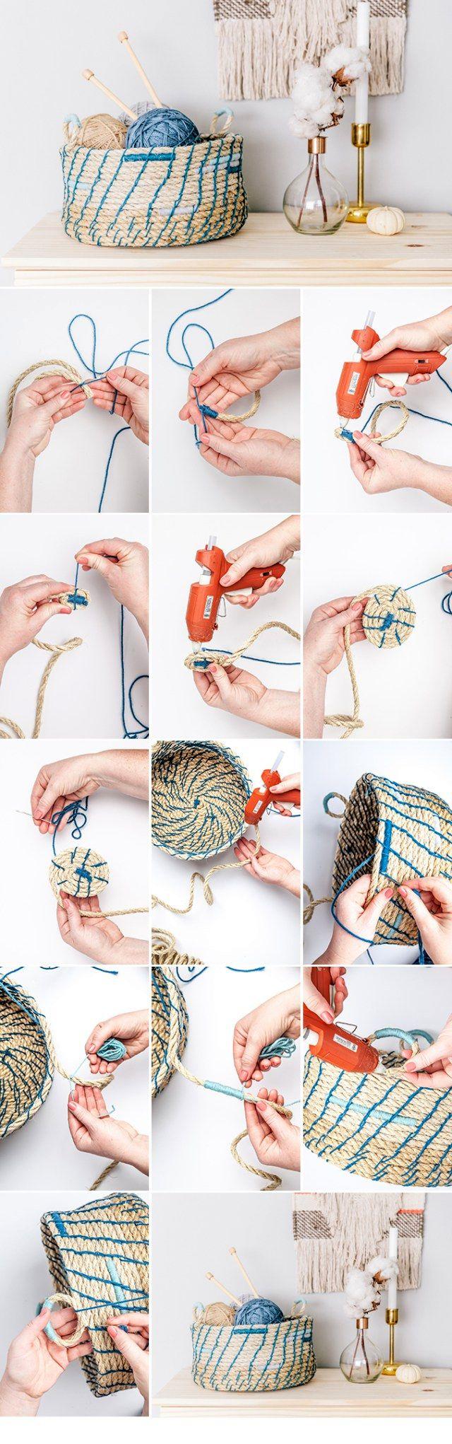 18-min-21 Как сделать корзину из веревки своими руками