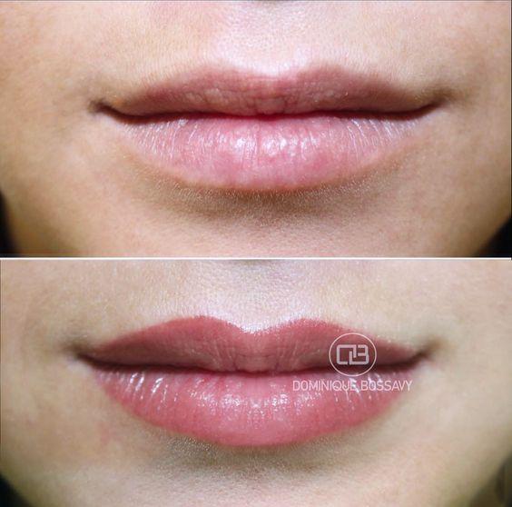 перманентного макияж губ фото до и после