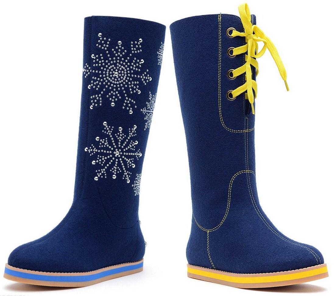 Стильная зимняя обувь: Валенки на фото в 2019 году