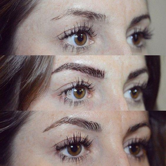 Стильный перманентный макияж бровей Фото до и после отзывы