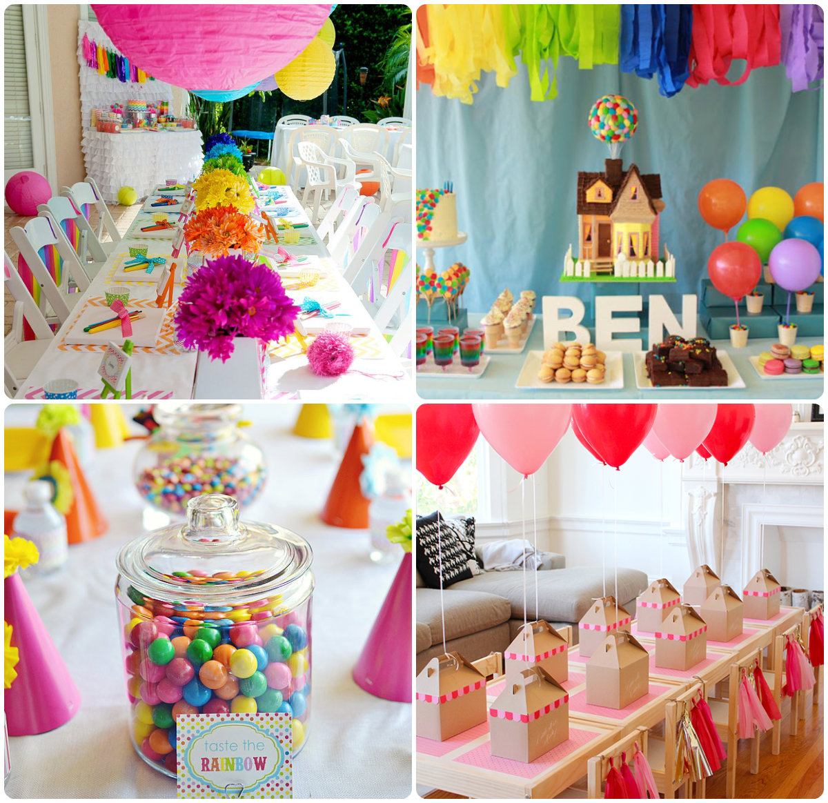 Чем украсить зал на день рождения своими руками фото