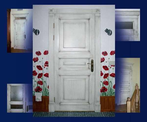 Украшаем старую дверь своими руками