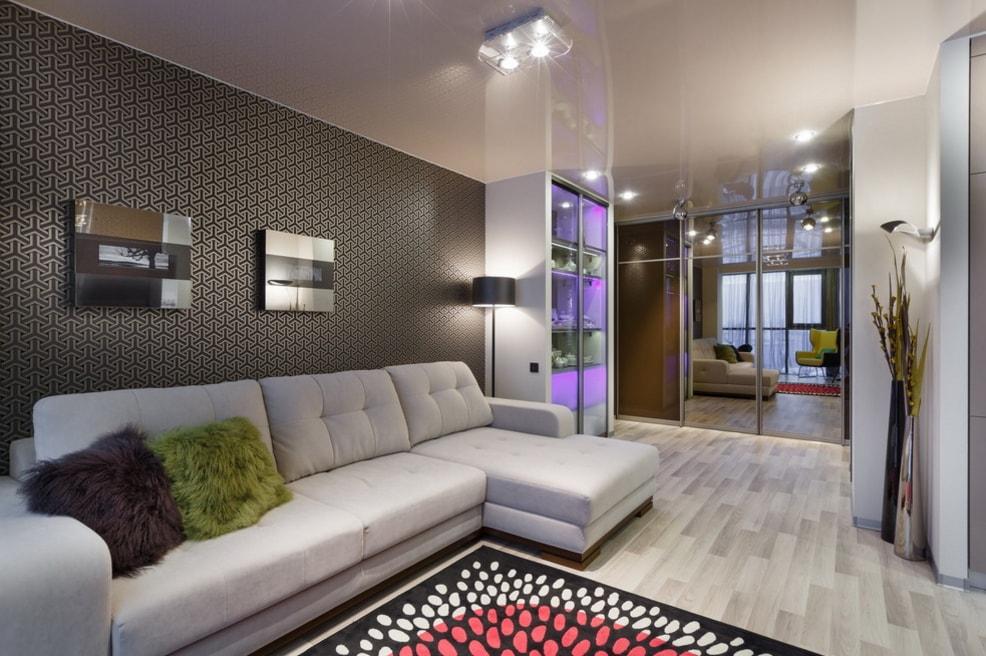 Шкаф купе в гостиную: фото, дизайн, идеи 9