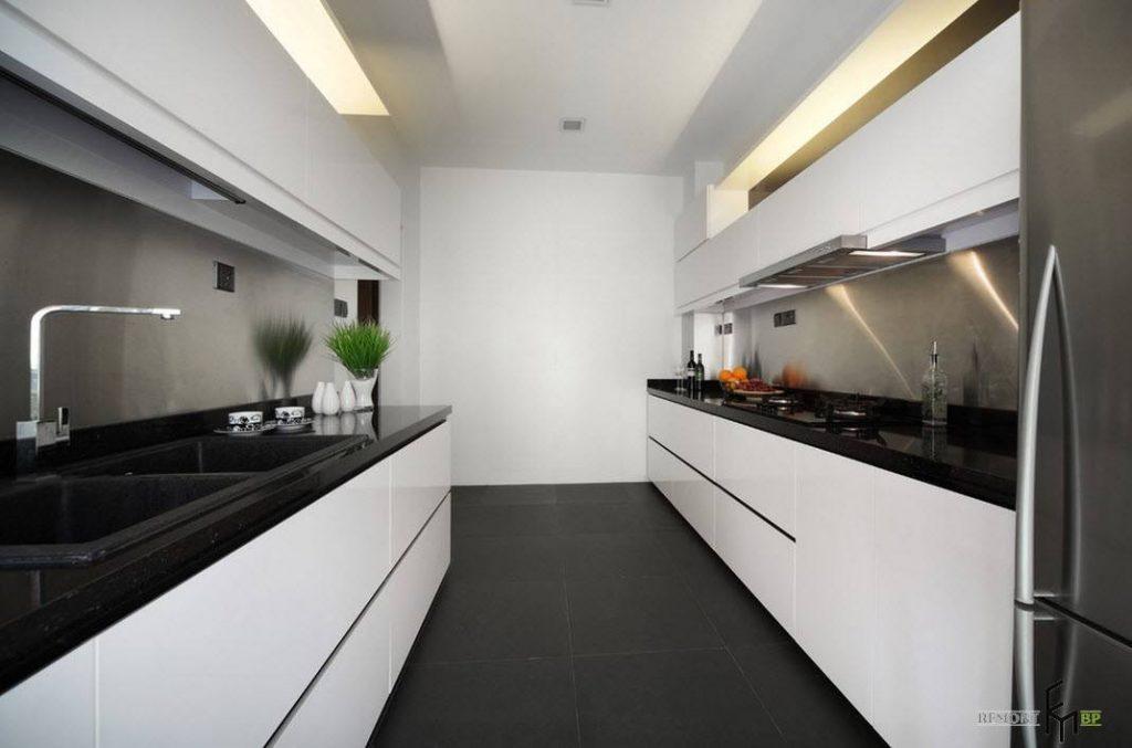 Белая матовая кухня в интерьере