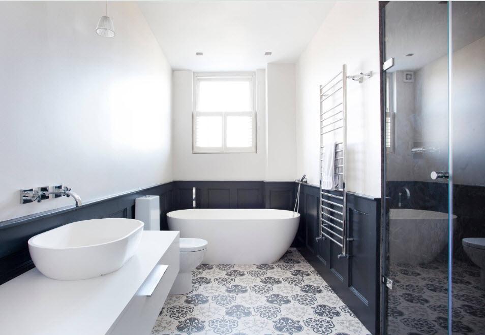Пластиковые панели для ванной комнаты: из ПВХ для стен, каталог красивых, панно, мозаичные плиты, черно-белые, фото, видео