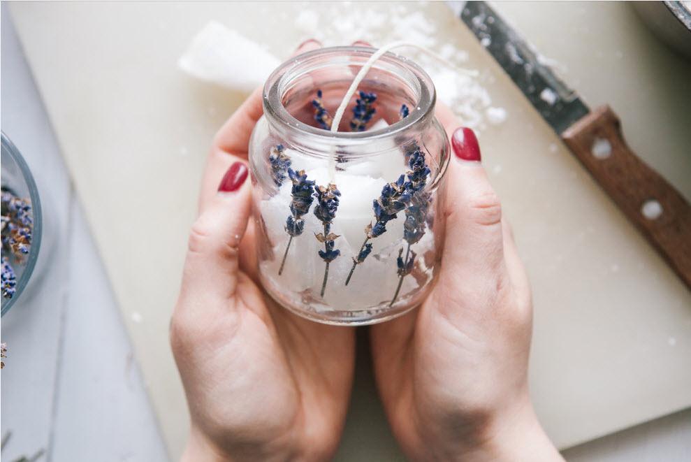 лавандовая свеча своими руками