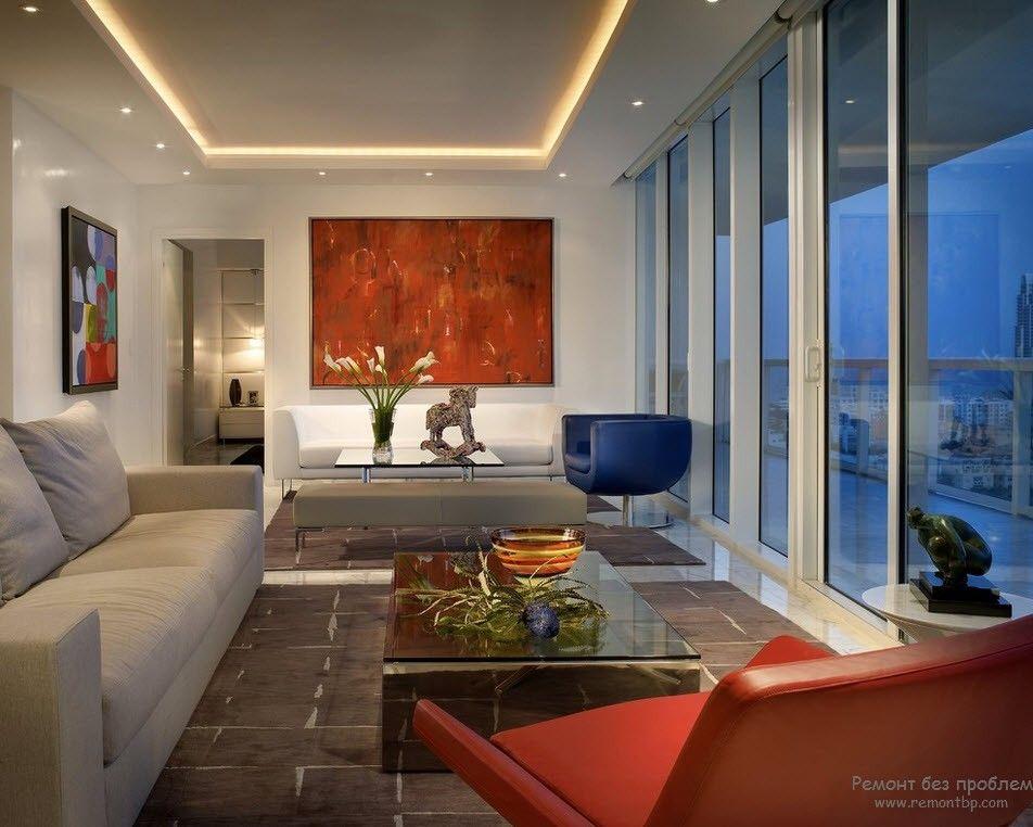 Парящий натяжной потолок – идеи удачного и современного дизайна