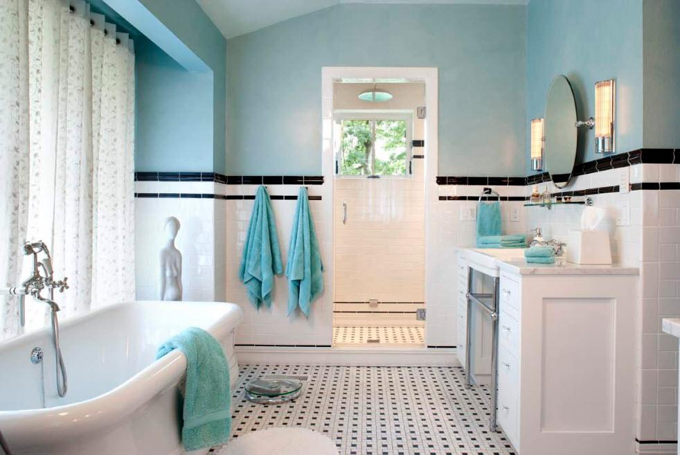 Белая ванная комната дизайн интерьера фото