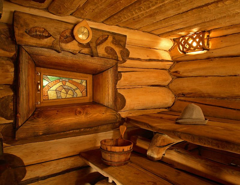 Отделка бани внутри, фото подборка с вариантами оформления