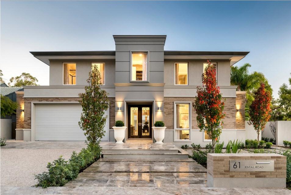 красивые фасады двухэтажных частных домов фото это делать