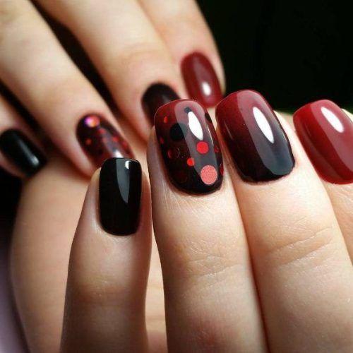 Новогодний маникюр гель лаком - фото идей дизайна ногтей - Best