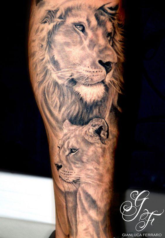 Фото татуировок на плече львы 1