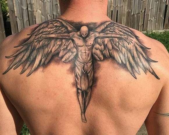 Тату ангел фото мужчина