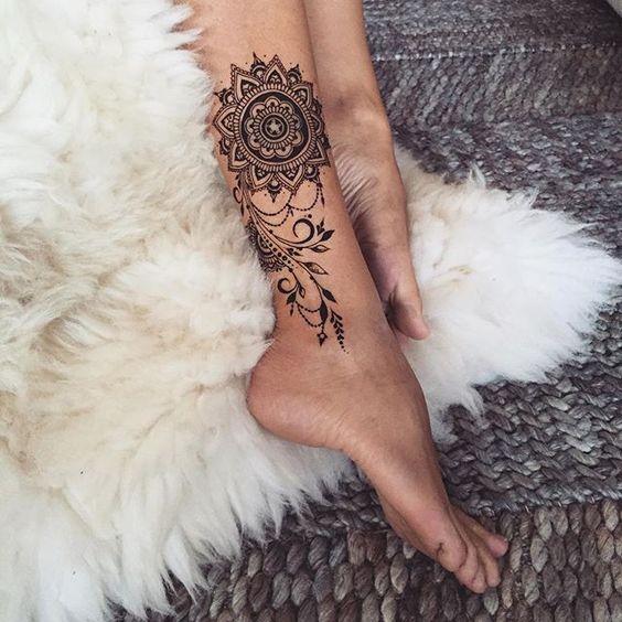 Татуировки на Лодыжке для девушек Женские Тату вокруг 54
