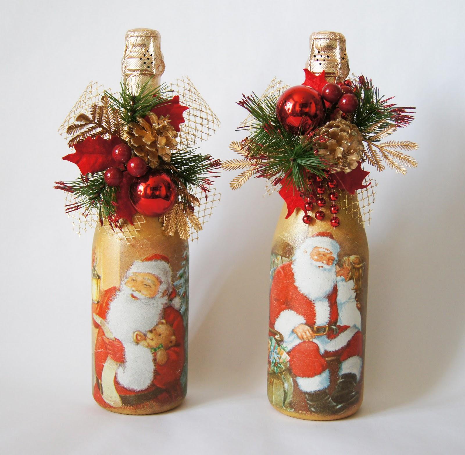 Как сделать новогоднюю бутылку шампанского фото 323