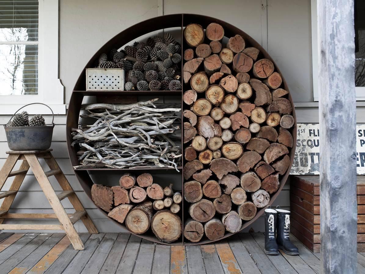 Как красиво сложить дрова на даче и во дворе