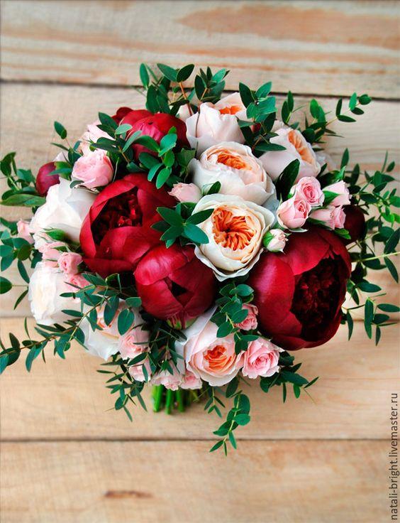 Объемный букет цветов своими руками фото 570