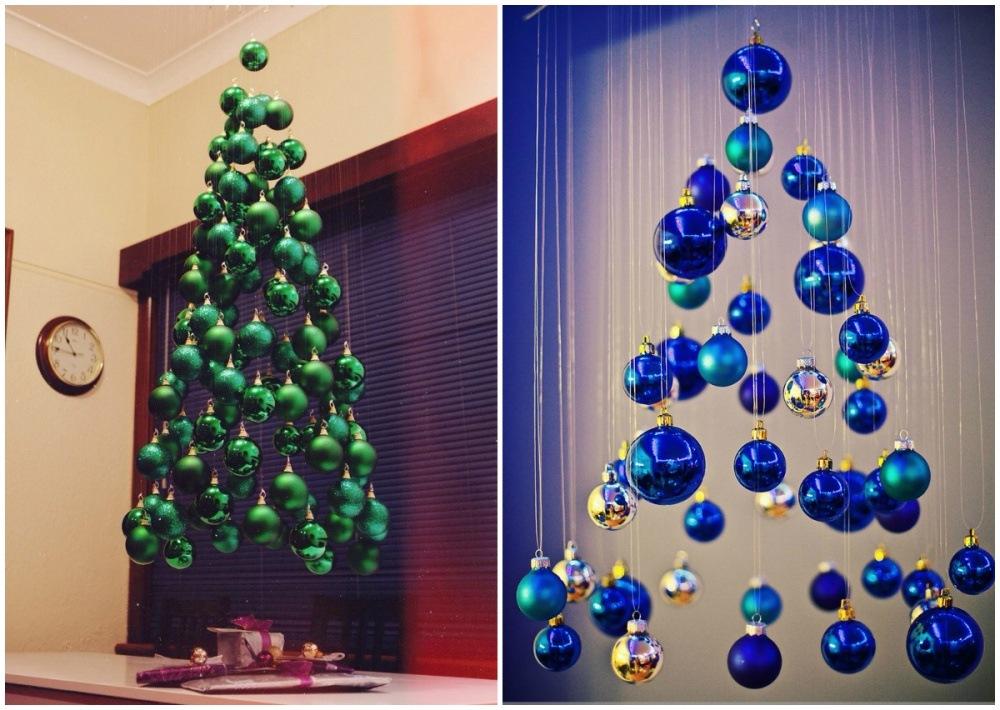 Необычная елка из шаров