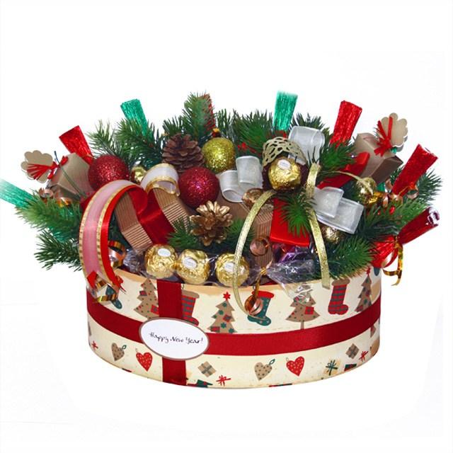Новогодняя коробка с конфетами