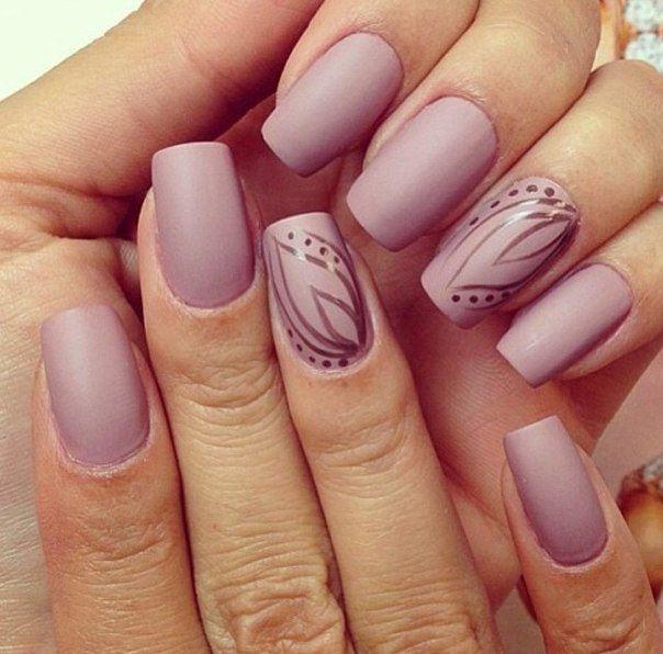 Матовый шеллак на ногтях