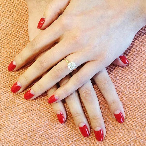 Красные ногти дизайн весна  2018 62