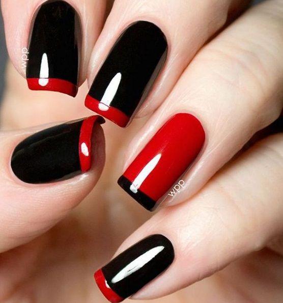 Красный с черным френч