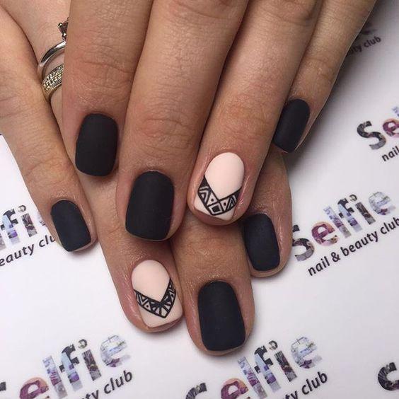 Оригинальный узор на ногтях