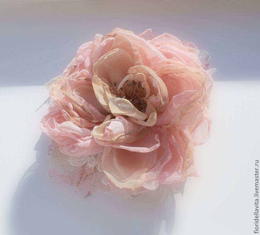 Цветы для из ткани для ободков своими руками фото 217