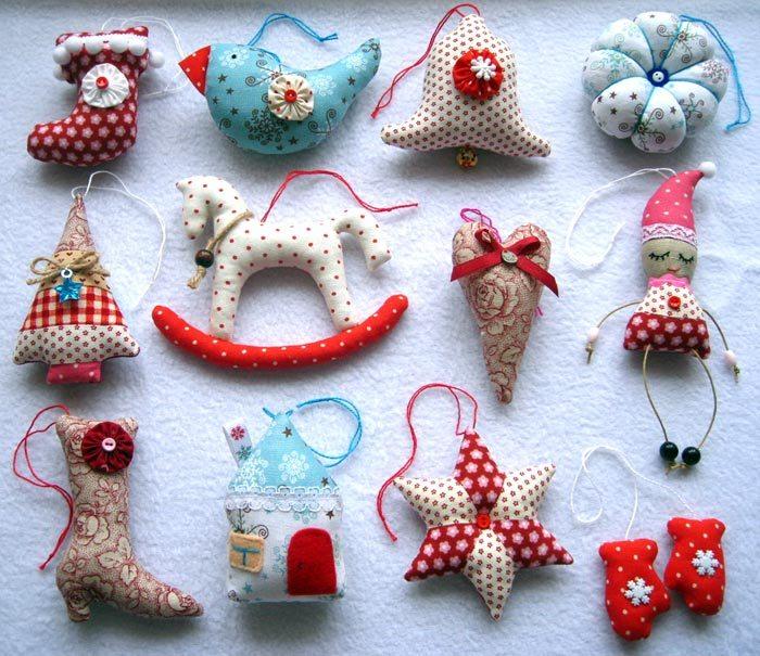 Разнообразие игрушек из фетра