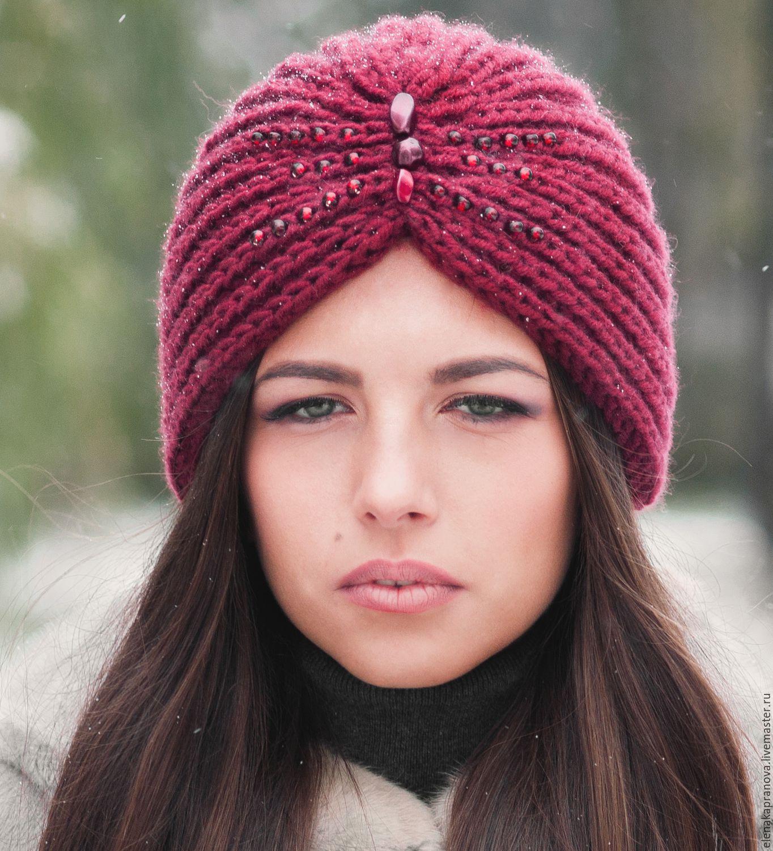 вязаные женские шапки 2018 модные тенденции и новинки на фото