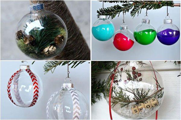 Стеклянные новогодние шары