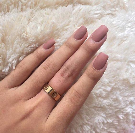 Матовые ногти дизайн 2018 фото с лунками