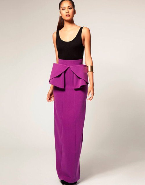 Длинные юбки: тренды 2018 года