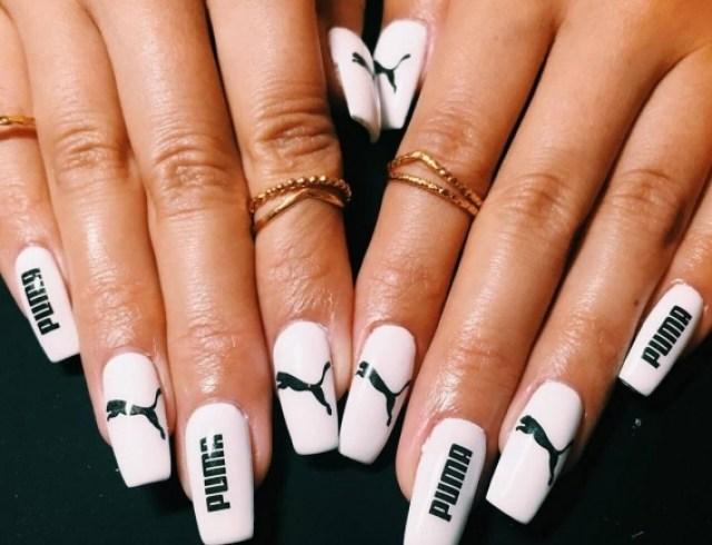 Пума на ногтях