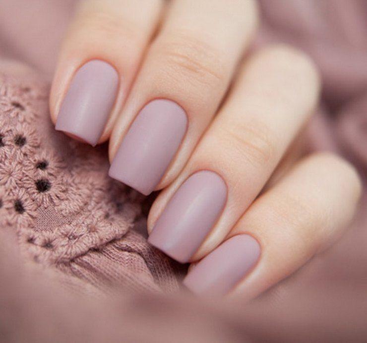 Однотонные матовые ногти