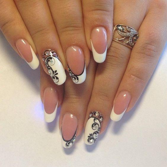 Изысканные узоры на ногтях