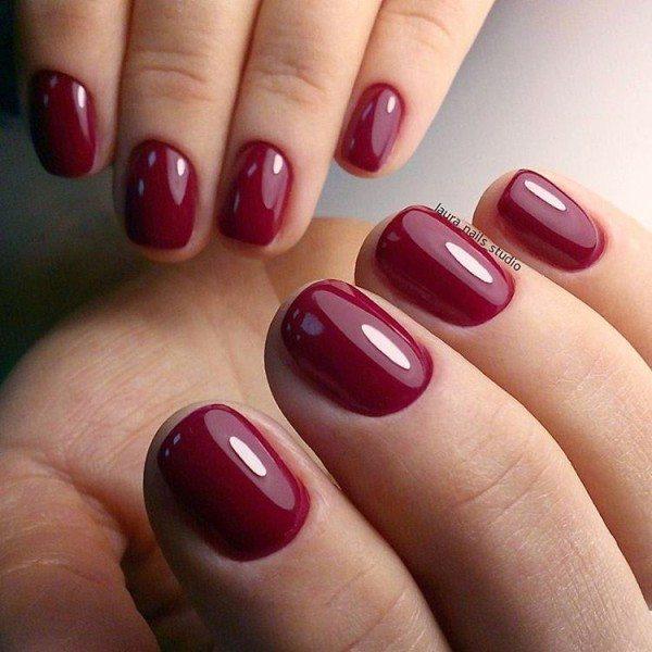 Красные ногти дизайн 2018 с цветами