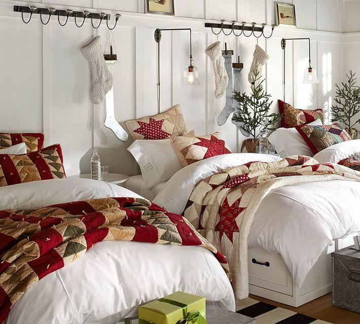 Декор детской с несколькими кроватями