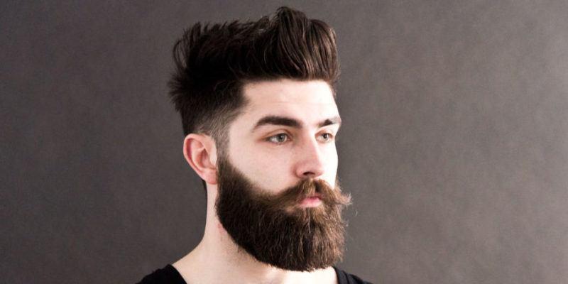 Густая борода и объемная стрижка