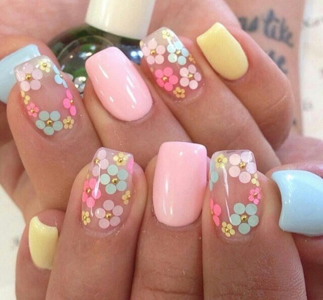 "Floral Manicures For Spring And: 100 модных новинок: Рисунки на ногтях ""Лето 2018"