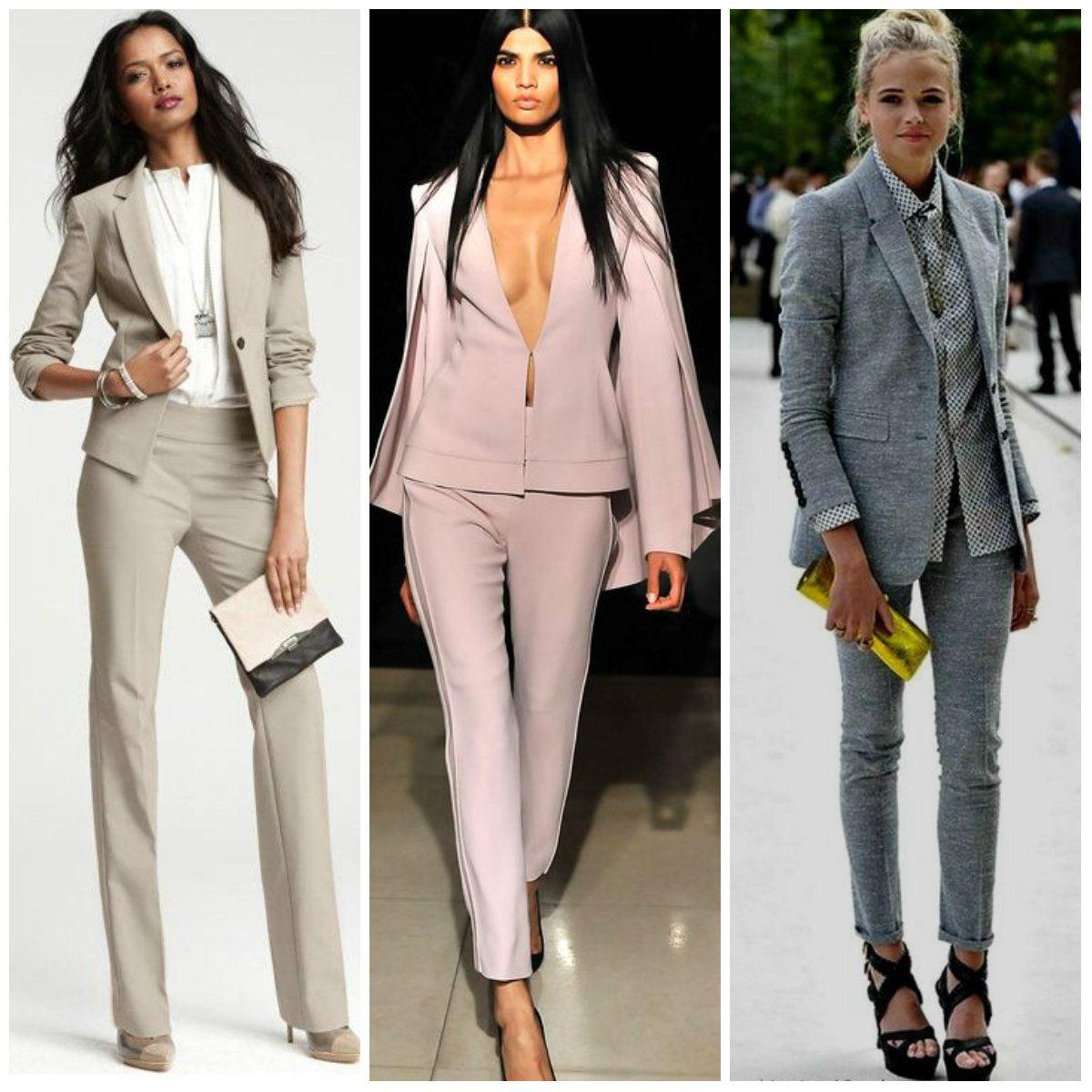 Мода женские костюмы 2018